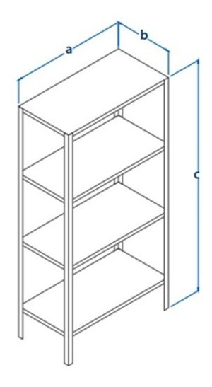 Anaquel Metalico 30x85cm (estante Reforzado 5 Niveles)