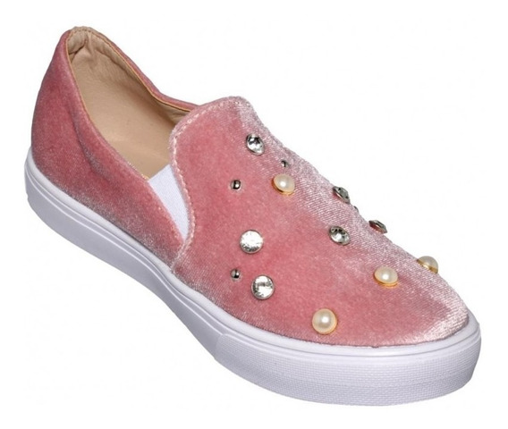 Tenis Casuales Marca Baby Candy Velutto Rosa 4717