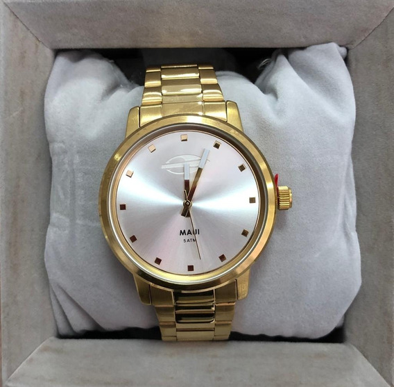Relógio Mormaii Dourado Analógico