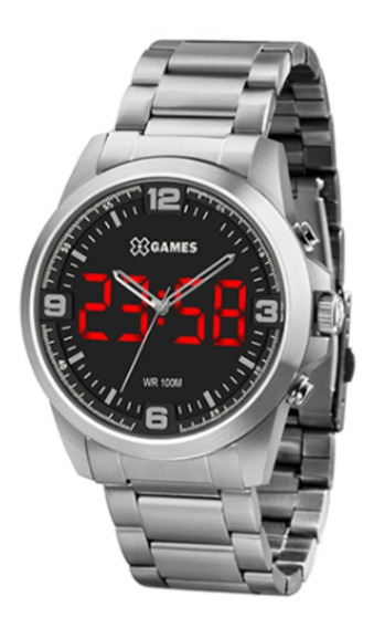 Relógio Masculino X Games Prata Anadigi Frete Grátis
