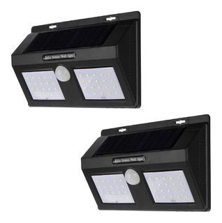 Lamparas Solares Exterior Con Sensor De Movimiento Y 3 Funciones Diferentes Bateria 2500 Mah Y 40 Leds Incluye 2 Piezas