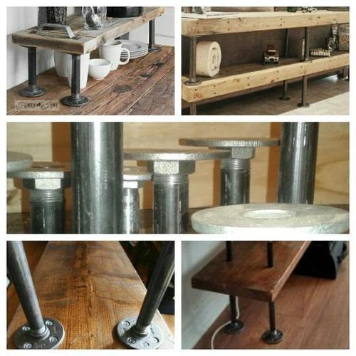 Patas Para Muebles En Caño Estilo Industrial