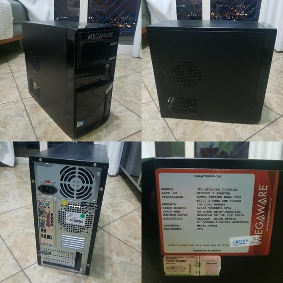 Computador Megaware | Fonte Ou Placa Danificada | Usado