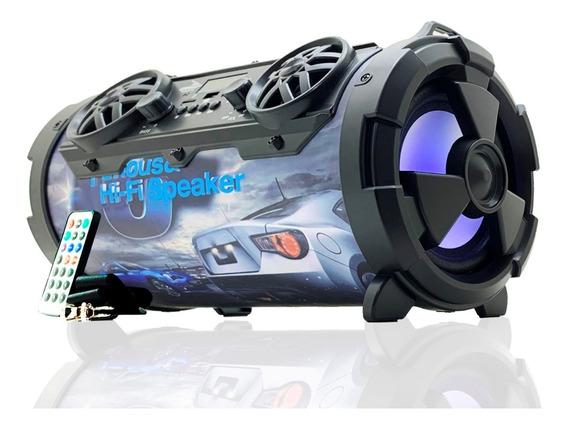 Caixa Som Bluetooth Portátil Amplificada Canhão Rádio Fm Aux
