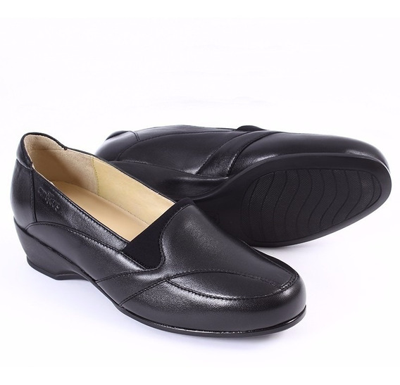 Mocasín Zapatos Onena 3021 Negro Clinicus Dama Juanetes