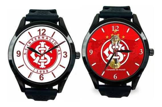 Kit 2 Relógios Pulso Internacional Masculino Personalizado