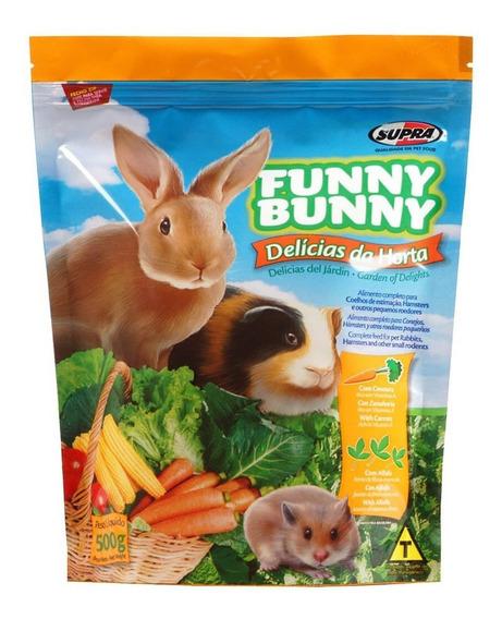 Ração Coelhos E Roedores Supra Funny Bunny Delícias Da Horta