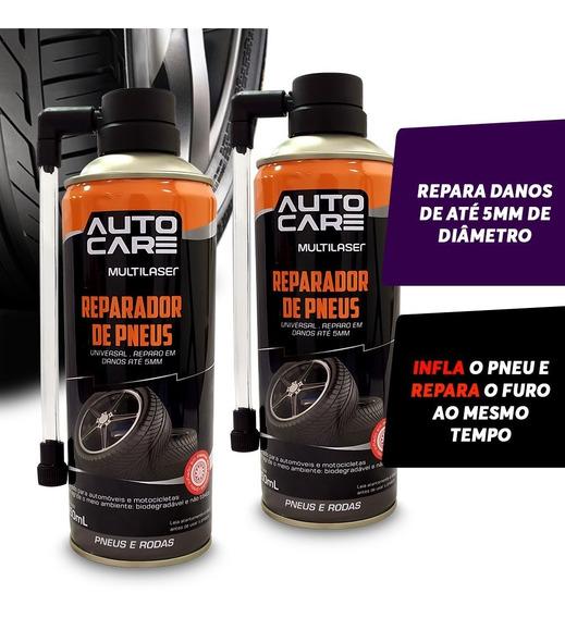 02 Spray Remenda Enche Pneu Na Hora Reparador Instantaneo