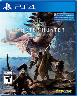 Monster Hunter World Ps4 Como Nuevo, Caja Abierta En Vitrina