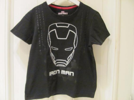 Remera Niño Marvel Iron Man Fluo En La Oscuridad Importada