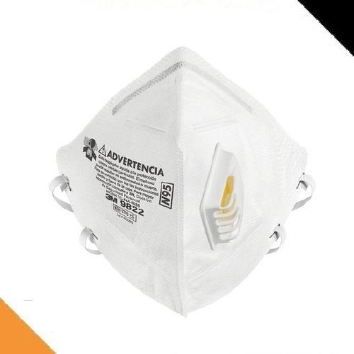 Barbijo Respirador Mascarilla N95 3m 9822 Certif Con Valvula