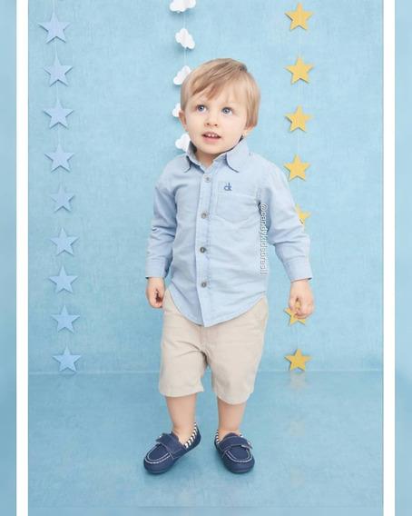 Calvin Klein Baby - Camisa Jeans + Bermuda