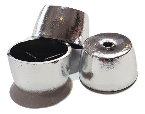 Regaton Taco Grande Plata X 4 Unid - Artículos De Tapicería
