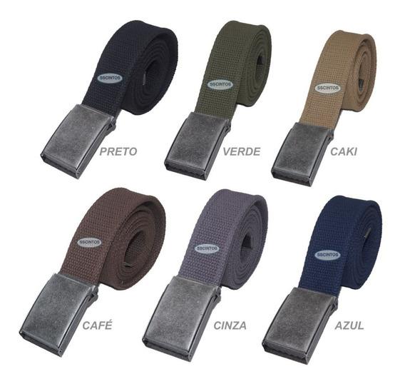 Cinto Plus Size Masculino Lona Premium 2 Bordas 4cm L40vd 02