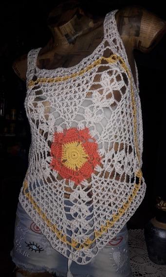 Remera Mandala Crochet