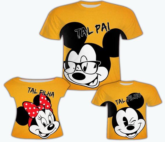 Blusas Pai E Filhos - Mickey Famíliai 1