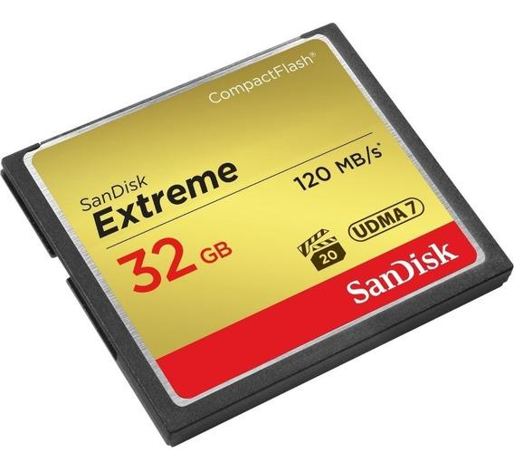 Cartão Memória 32gb Compact Flash Sandisk Cf Extreme 120 Mb