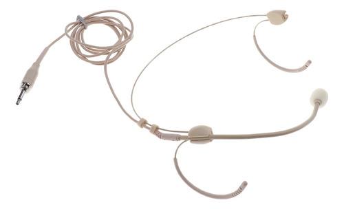 Finest Thread Dual Ear Hook Microfone Speech 1/8 '' Mono Ts