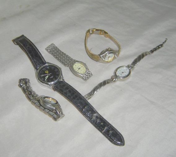 Lote De 5 Relógios Para Troca De Baterias, Restauro....