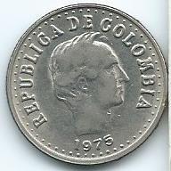 Moneda De Colombia 20 Centavos 1975 Muy Linda