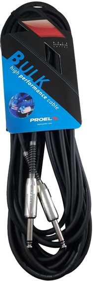 Cable Plug Instrumento Proel Bulk100lu10 10 Metros Niquel - Cuotas