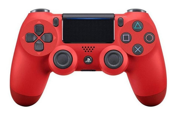 Controle Sony Dualshock 4 Magma Red Sem Fio Ps4