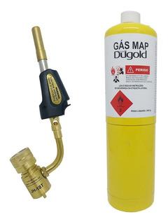 Maçarico Portátil Hand Torch + Gás Map Para Solda