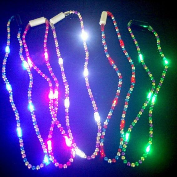 Collar Perlas Luminoso Led X 10