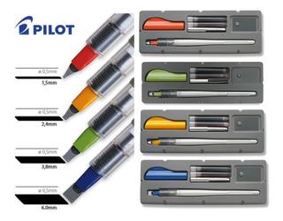 Set Pilot Parallel Pen 4 Plumas + Cartuchos Negros Color