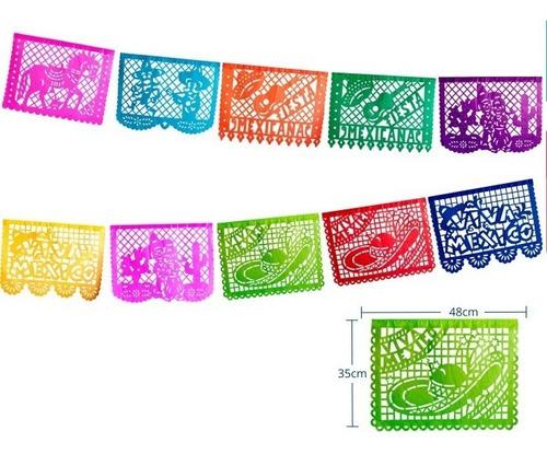 Imagen 1 de 6 de Papel Picado Charrería / Fiesta Mexicana En Plástico