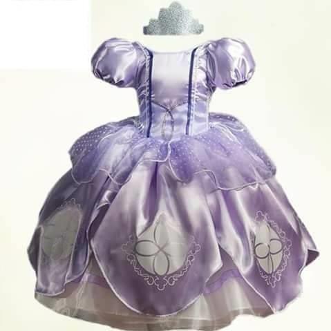 Vestido Princesa Sofía Tallas 2 8