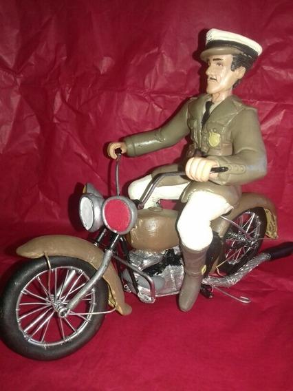 Figura Pedro Infante En Moto A Toda Maquina