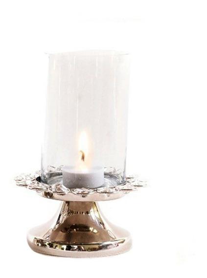 Lamparina Decoração Quarto Sala Cristal Vela Lanterna