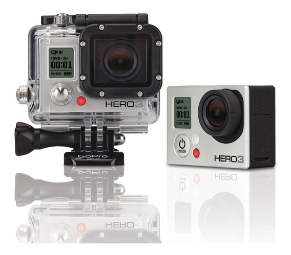 Câmera Gopro Hero 3+ Silver Edition C/ Acessórios (nova)