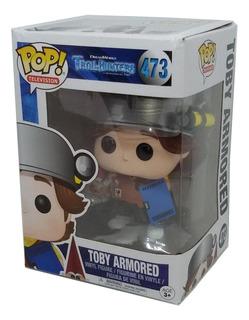 Trollhunters Funko Pop Toby Armored With Gnome Nuevo Cerrado