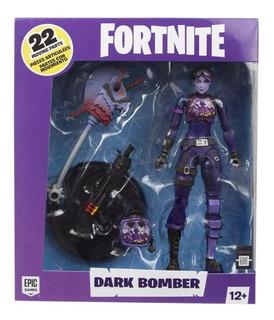 Muñeco Fortnite 7 Dark Bomber Sobre Ruedas Juguetes