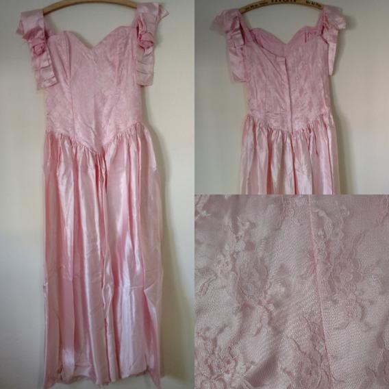 Vestido De 15 Rosa - Encaje Y Raso En Mar Del Plata