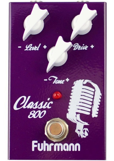 Pedal Classic 800 Distorção De Marshall Jcm800 Fuhrmann 2489