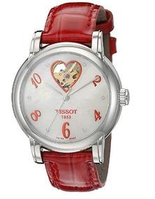 Relógio Tissot Automático Feminino Lady Heart Branco/vermelh