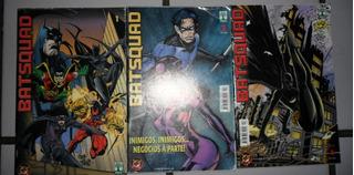 3 Revistas - Batsquad (batman) - Ed. Abril (frete Grátis)