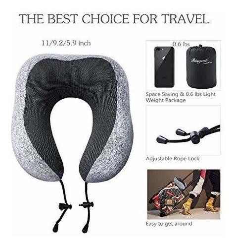 Ideal con Gafas de Dormir y Tapones para los o/ídos para Viaje coj/ín de Viaje en Forma de U Oficina y casa MIABOO Almohada Cervical de Viaje Espuma viscoel/ástica c/ómoda