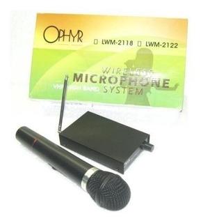 Micrófono Inalámbrico De Mano Vhf 200mh Profesional Ophyr