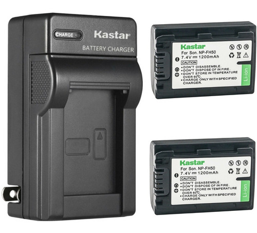 Imagen 1 de 1 de Cargador + 2 Baterias Sony Np-fh50 Fh40 Dslr-a230 Oferta!