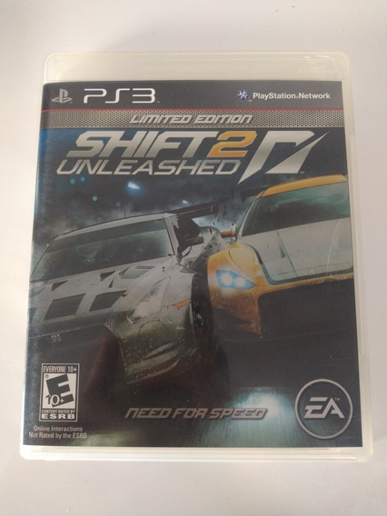 Jogo Shift 2 Unleashed Need For Speed Playstation 3 Ps3