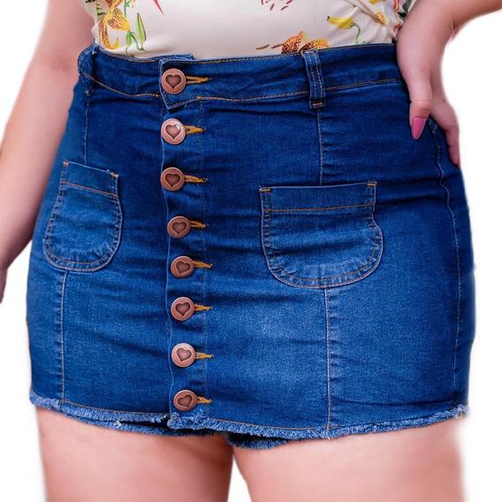 Saia Jeans Plus Size Moda Com Qualidade E Barata Gg Ref. 13