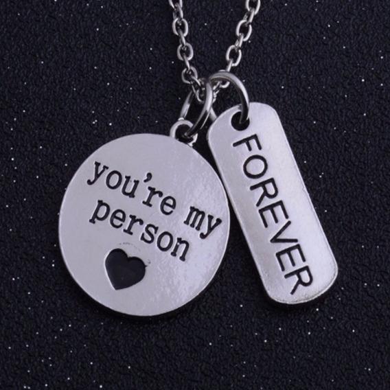 Cordão Colar Greys Anatomy You Are My Person Forever