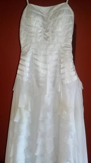 Vestido De Novia Blanco Y Marfil