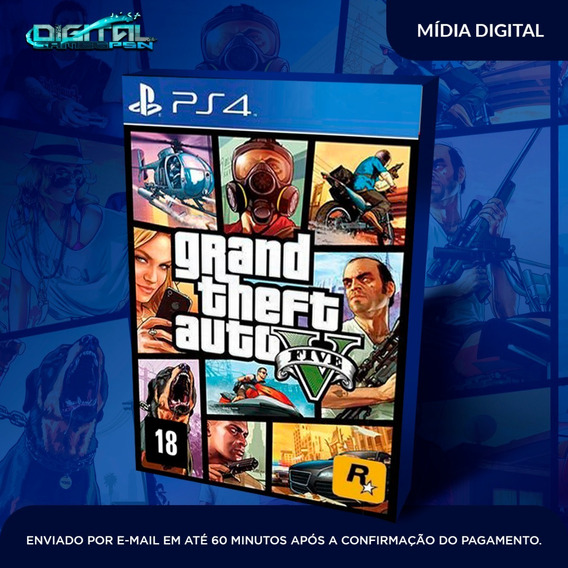 Grand Theft Auto Gta 5 V Ps4 Psn Jogo Digital Envio Rapido