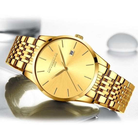 Multifuncional Clássico Moda Homens Negócio Relógio Luxo Mas