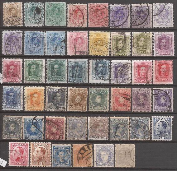 España 1872 Interesante Lote 46 Sellos Usados - 131